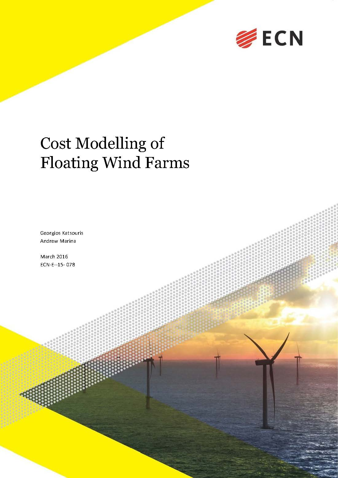 Cost Modeling of Floating Wind Farms – ECN 2016