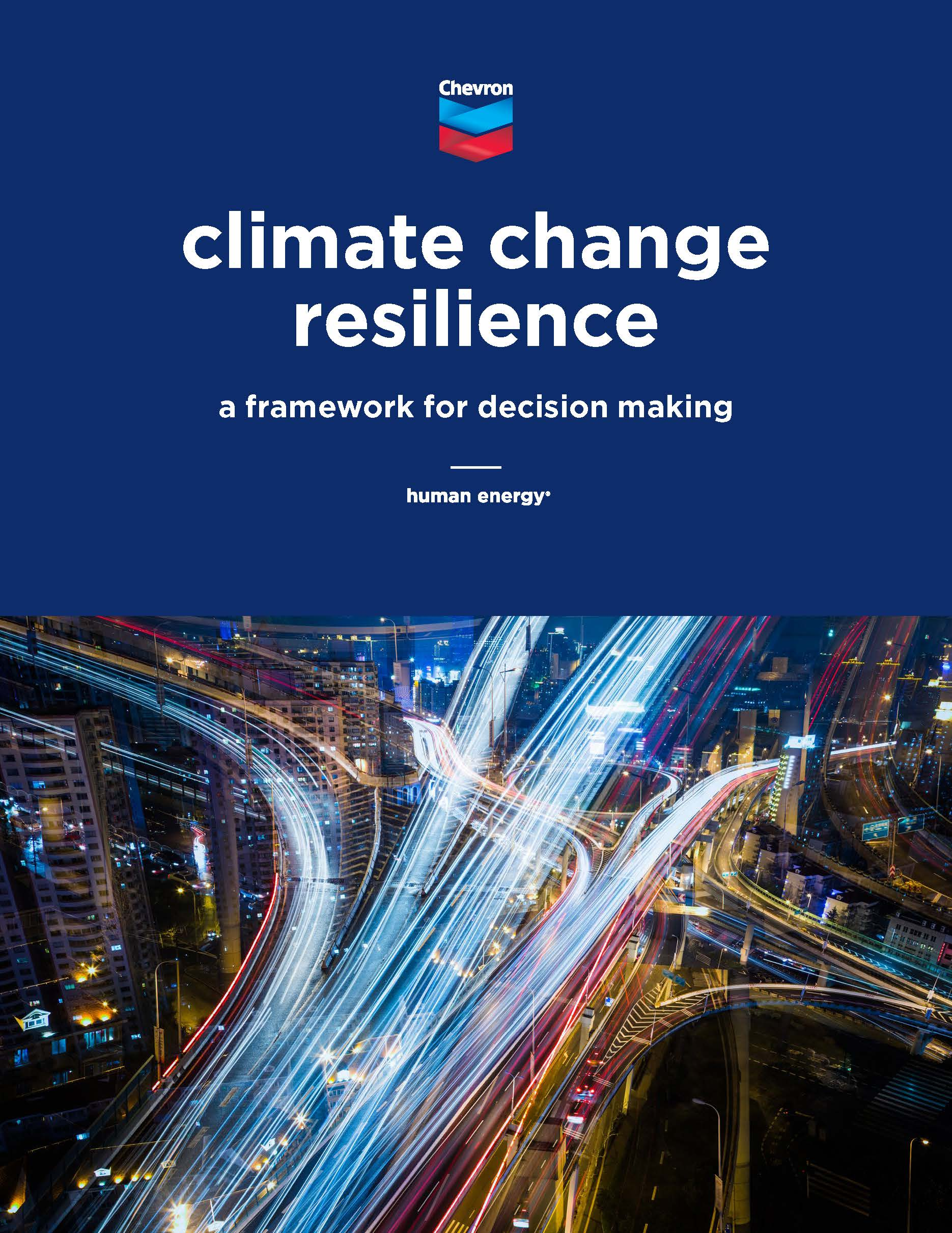 Climate Change Resilience –  A Framework for Decision Making – Chevron
